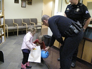 Trick or treat at the Police Department